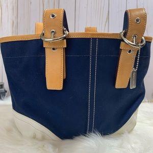 Coach leather bottom Hampton Soho blue
